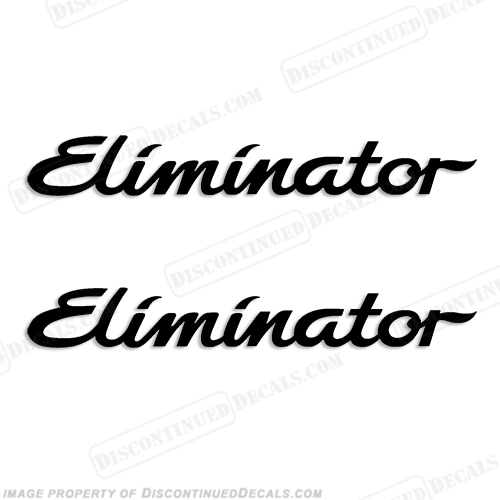 Eliminator Boat Decals (Set of 2) - Any Color