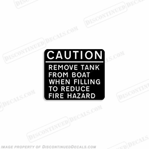 "Caution ""Remove Tank"" Decal"