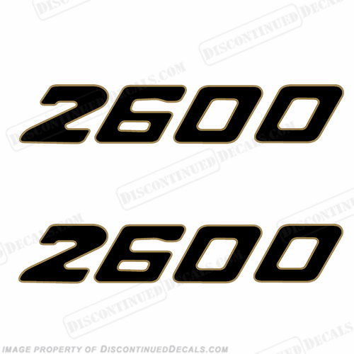 Century Boats 2600 Logo Decals (Set of 2)