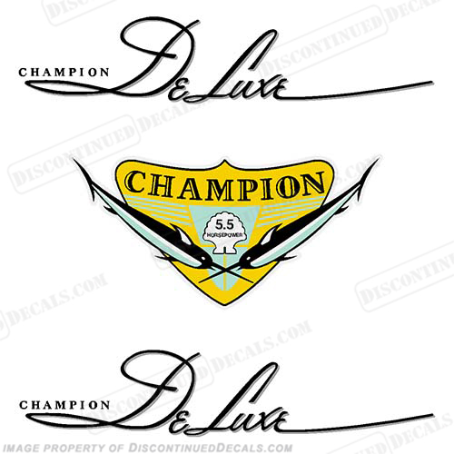 Champion 5.5hp Playboy Light Twin Decals - 1940