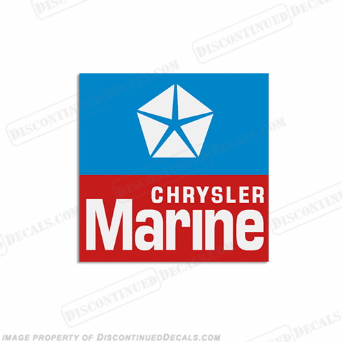 Chrysler Logo Emblem Boat Square Decals