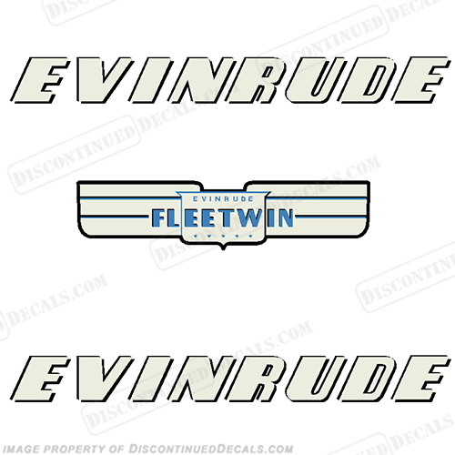 Evinrude 1952 7.5hp Fleetwin Decal Kit evinrude 7.5, 7.5
