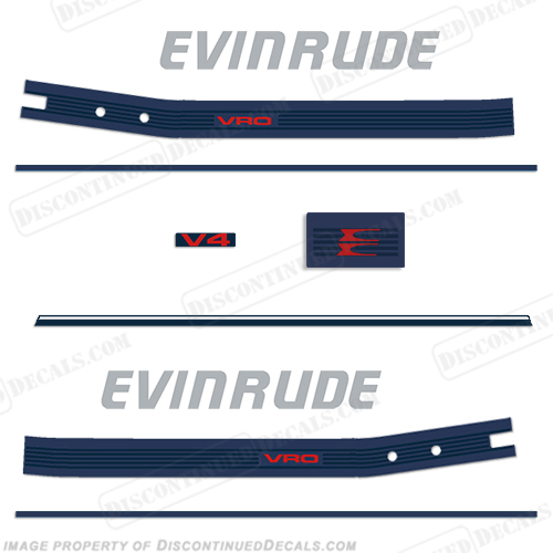 Evinrude 1986 140hp Decal Kit