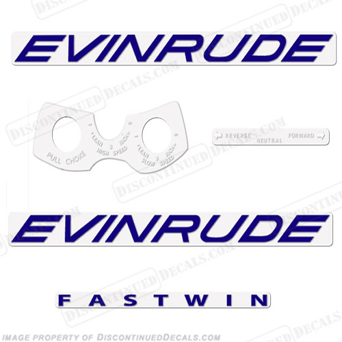 Evinrude 1961 18hp Decal Kit