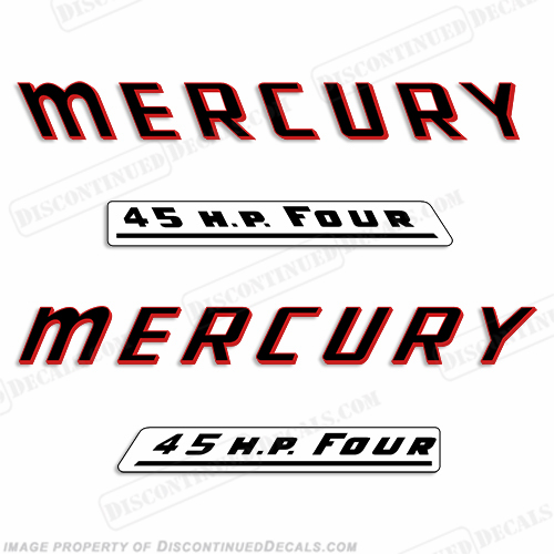 Discontinued Decal Reproductions in Stock! Mercury 1956 6hp Outboard Decal Kit