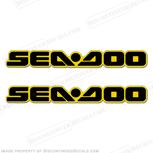 Sea-Doo Decals - Black/Yellow - Set of 2