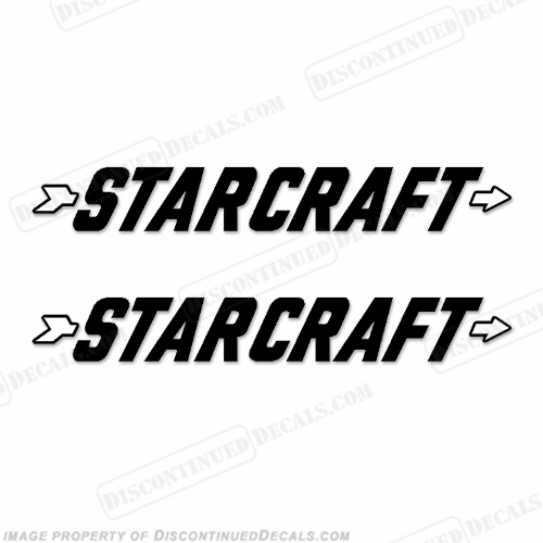 Starcraft Boat Logo Decals (Set of 2) - Style 1 - Any Color!