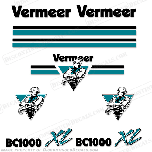 Vermeer BC1000 XL Chipper Decal Kit