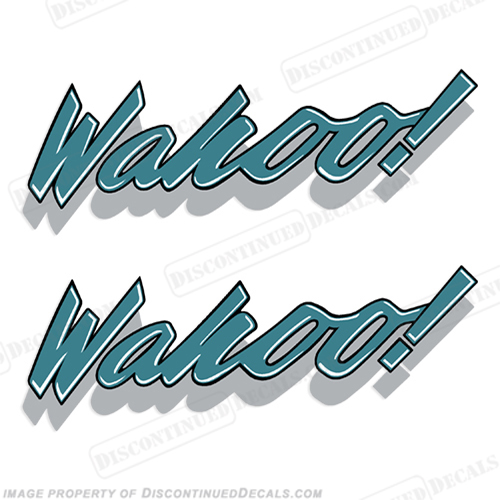 Wahoo Boat Logo Decals - 1990 Wahoo Laser (Set of 2) 90
